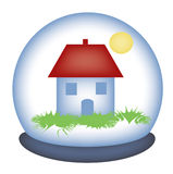 Glass paperweight in the house Stock Photo