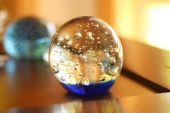 Glass Paperweight Stock Photo