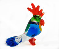 Glass parrot - profile Royalty Free Stock Images