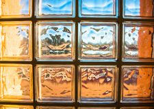 Glass partition with intense colors Royalty Free Stock Photos