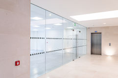 Glass partitions Stock Image