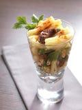 glass pastasallad arkivbild