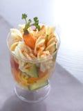 glass pastasallad arkivbilder