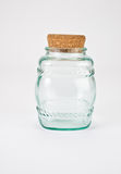 Glass Pattern Jar Stock Image