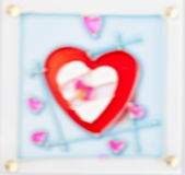 Glass patterned ,beautiful color blur heart background. Concept valentine's day Royalty Free Stock Images