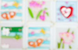 Glass patterned ,beautiful color blur heart background. Concept valentine's day Royalty Free Stock Image