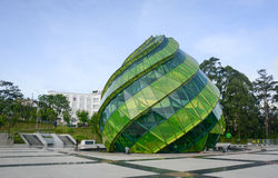 Glass Pavilion at Lam Vien Square in Dalat, Lam Dong, Vietnam.  Royalty Free Stock Images