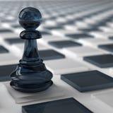 Glass pawn Stock Image