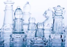 Glass pawns Stock Photography