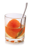 Glass with peach Royalty Free Stock Photography