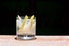 Glass of peach mojito Stock Photography