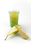 Glass of pear juice Royalty Free Stock Photo