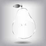 Glass pear. Vector beautiful illustration. Royalty Free Stock Photo