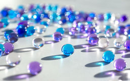 Glass pearls Stock Images