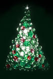 Glass pebble christmas tree Stock Photo