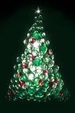 Glass pebble christmas tree Stock Photo