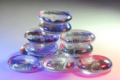 Glass Pebbles. Washed in calming soft colorful light Royalty Free Stock Photo