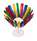 Glass with pegs Royalty Free Stock Image
