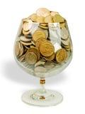 glass pengar Arkivbilder