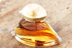 Glass perfume bottle Stock Image