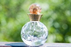 Glass perfume bottle Royalty Free Stock Photo