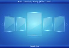 Glass Picture Gallery. Vector illustration Stock Photo