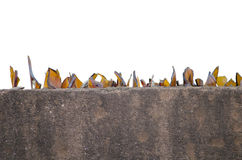 Glass pieces on the house fence. For protection of intruders Royalty Free Stock Photos