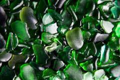 Glass pieces polished by the sea Royalty Free Stock Photo