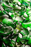Glass pieces polished by the sea Stock Photos