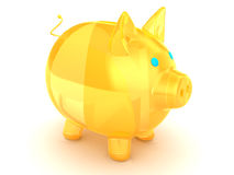 Glass pig Royalty Free Stock Images