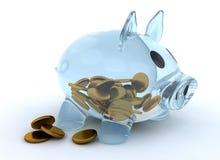 Glass piggy bank Stock Image