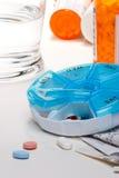 glass pillsvatten Arkivfoto