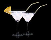 Glass of Pina Colada Cocktail Royalty Free Stock Photos
