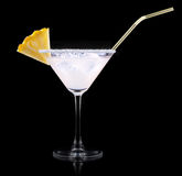 Glass of Pina Colada Cocktail Stock Images