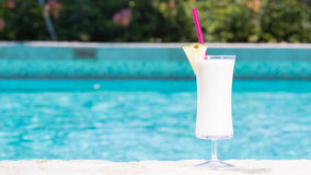 Glass of Pina Colada Stock Images