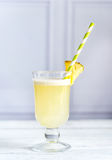 Glass of pina colada Royalty Free Stock Photography