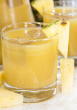 Glass with Pineapple Juice Stock Images