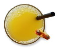 Glass of pineapple juice Royalty Free Stock Images