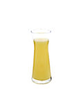 Glass of pineapple juice isolated on white Royalty Free Stock Photography