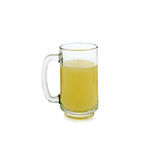 Glass of pineapple juice isolated on white Royalty Free Stock Image