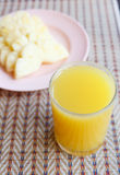Glass of Pineapple juice Royalty Free Stock Photography