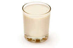 Glass of pineapple yogurt Stock Photo