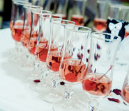 Glass of pink champagne Stock Image