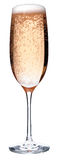 Glass of pink champagne Stock Images