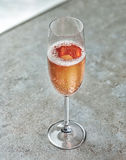 Glass of pink champagne Royalty Free Stock Image