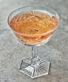 Glass of pink champagne Stock Photography