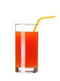 Glass of pink grapefruit juice Stock Images
