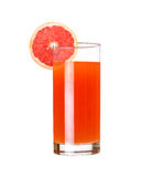 Glass of pink grapefruit juice Royalty Free Stock Images