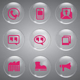 Glass Pink icons vector Royalty Free Stock Photo