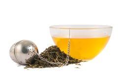 Glass piola bowl of tea isolated Stock Photos